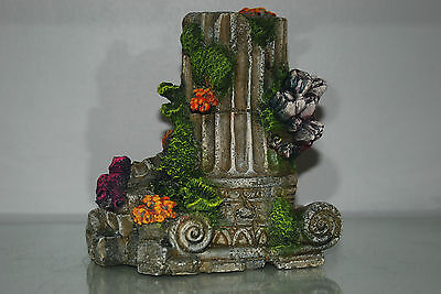 Detailed Aquarium Column Ruin Base 18 x 12 x 19 cms Suitable for all Aquariums