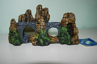 Aquarium Stump Rock Bridge Decoration 18 x 7 x 9 cms Suitable For All Aquariums