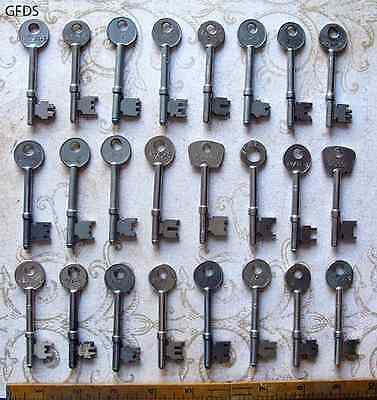 Premium Set Lot 24 Antique Vintage Skeleton Keys - Wedding Wholesale Collection