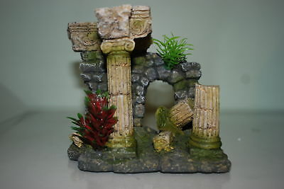 Aquarium Old Roman Arch Ruin Decoration For All Aquariums  15 x 10 x 13 cms