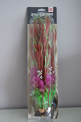 Aquarium Plant Large Japonica Red Green Bushy Plant Weighted Base 40cms