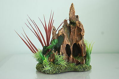 Aquarium Detailed Stump Pinnacle Rock Garden 17 x 12 x 21 cms For All Aquariums