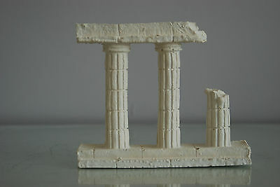 Aquarium Greek Temple Ruin Column Decoration 16 x 13 x 3 cms