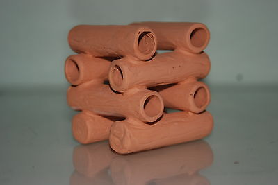 Aquarium Ceramic Breeder Stacked Tubes 8 x 8 x 8 cms For Loaches and Small Fish