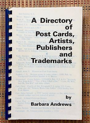 Directory of Postcards, Artists, Publishers, Tradmarks: 1975 SB Reference Book,R