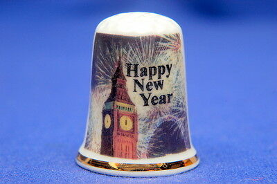 Welcoming In The New Year China Thimble B/176