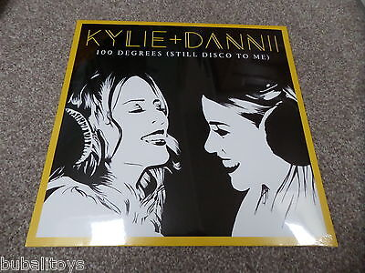 """Kylie + Dannii Minogue - 100 Degrees (Still Disco To Me) 12"""" Clear Vinyl Record"""