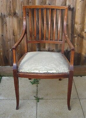 Antique Edwardian Carver Arm Chair