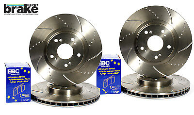 Toyota MR2 2.0 Turbo Front Rear Dimpled Grooved Brake Discs & EBC Pads SW20