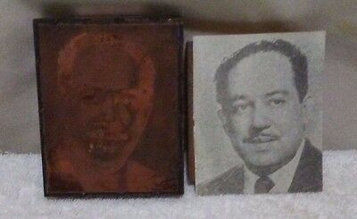 Historic African American Photo Engraving Printplate Image of Langston Hughes