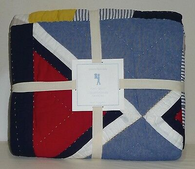 POTTERY BARN KIDS Flag Nautical TWIN Quilt, NEW