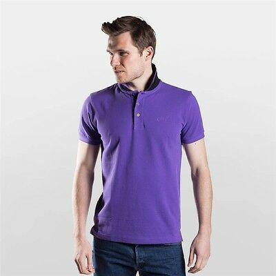 Townend Brucester Polo Shirt - Purple/Black - X Large - Horse Equestrian Shirts