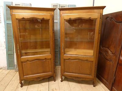 PAIR OF VINTAGE FRENCH DISPLAY CABINETS - ARMOIRE - CUPBOARDS - dc95