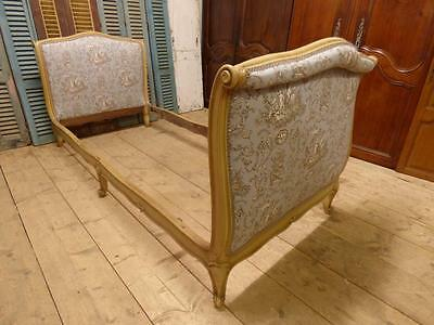 LOVELY VINTAGE FRENCH SINGLE BED - DAY BED - GOOD SIZE - NEW UPHOLSTERY - dv89