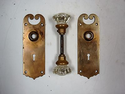 Glass Door Knob and brass plates