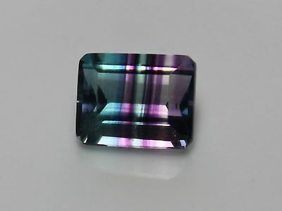 Bi-Color Flourite 10mm x 8mm Faceted Emerald Cut Loose Gemstone Varying CTW