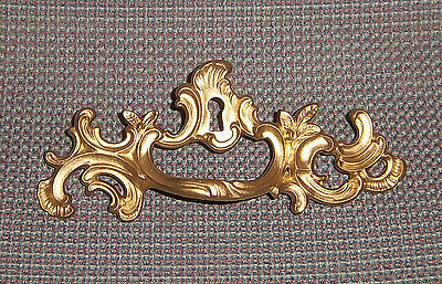 "Vintage Keeler Brass French Provincial Drawer Pull 2 1/2"" Bore Fancy Gold L@@K!!"