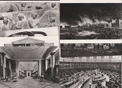 9 Postcard London Museum British real photo Fire Doll reading room vase kings