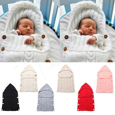 Winter Infant Cotton Swaddle Wrap Blanket Baby Newborn Knitted Sleeping Bag