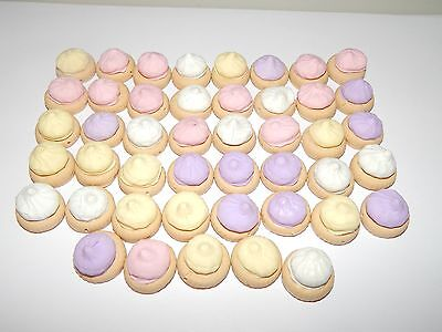 25 x Handmade Polymer clay McVities Jacobs Iced Gem Biscuit Beads Charms
