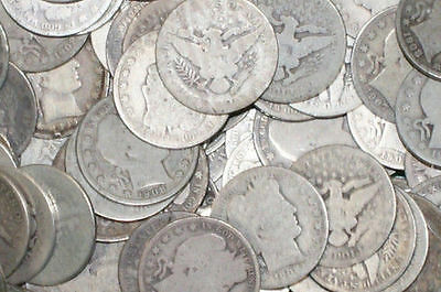 (1) Barber 90% Silver Half Dollar 50c G GOOD  Random Date STRICT GRADING!