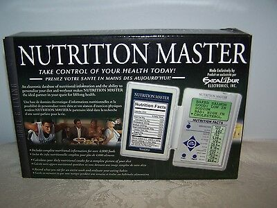 Excalibur Nutrition Master - New In Box - Electronic Database