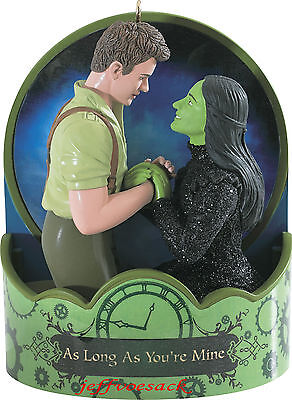 """Wicked """"As long as your Mine"""" Broadway Musical  2014 Carlton Ornament  CB"""