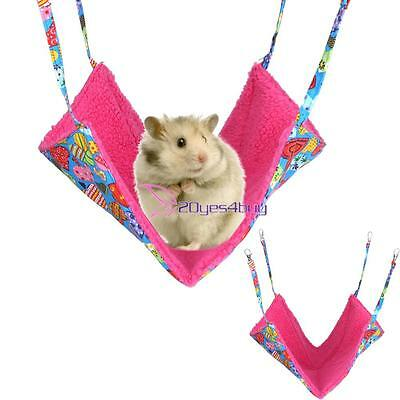 Small Animal Hammock for Pet Cat Hamster Rabbit Squirrel Hanging Bed Toy House