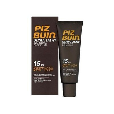 Piz Buin Ultra Light Dry Face Fluid Bronceador Facial Spf 15 50 Ml