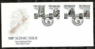 New Zealand : Fdc On National Parks (Scenic)-1987,unused, # 12