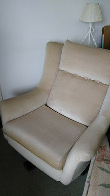 8150D Lullaby Vintage G Plan Swivel And Recline Armchair