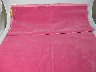 Vintage velvet fabric piece Germany cotton 34 in W Rose