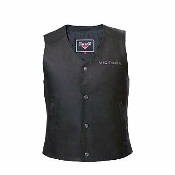 Victory Mens Leather Motorcycle Vest Size L 286320606