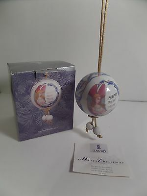 Lladro Angelic Wishes Ball Christmas Tree Ornament Holiday 2003 Retired