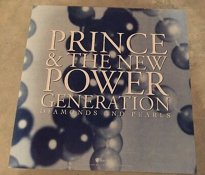 "PRINCE & THE NEW POWER GENERATION Diamonds Promo Poster Flat 12""X12"" MINT"