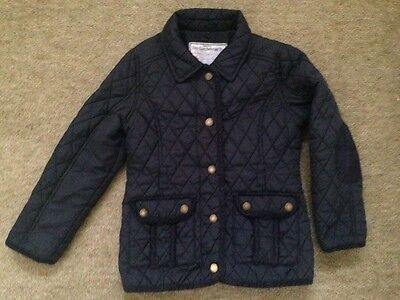 Monsoon Heritage Collection Girls Navy Quilted Coat Age 7-8Years