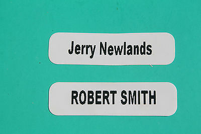 Personalised Name Labels Tags 50 Iron On Plus Free Shoe Labels Will Split