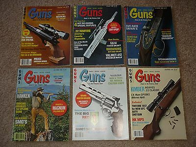 6 Issues of Guns Magazines, Hunting Shooting 1980
