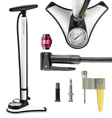 GIYO GF-71 High Pressure Bicycle Bike TOP Mounted Gauge Floor Pump 180 PSI