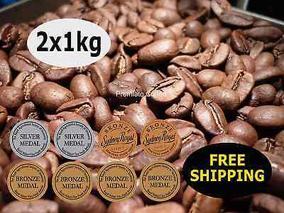 2 x 1kg Costa D'oro Blend. 8 Medals. By Premiato Coffee. Free Shipping
