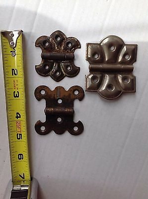 Lot of 3 Vintage Hinges Architectural Salvage