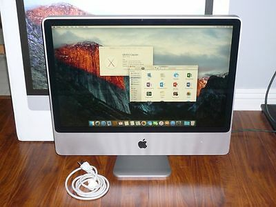 """Apple iMac A1225 24"""" LCD Desktop 2GB 320GB Core 2 Duo 2.80GHz All-in-one"""