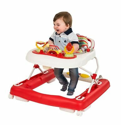 First Steps Baby Walker 3-in-1 Toddler Push Along Jumper Foldable Musical NEW