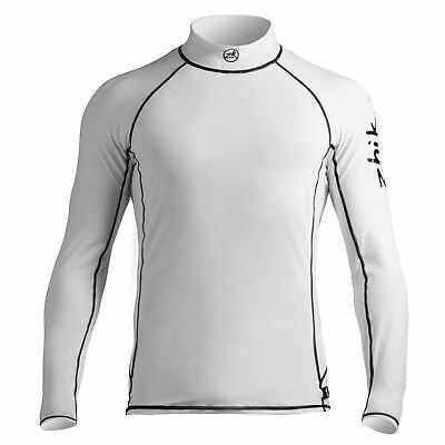Zhik Mens Long Sleeve Spandex Rash Vest / Guardia - Crisp Bianco
