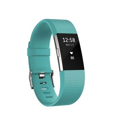 Fitbit Charge 2 HR Activity Tracker Sleep Fitness Monitor Wristband Teal Large