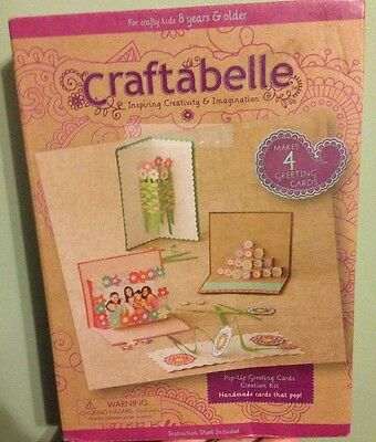 Craftabelle Pop-Up Paper Greeting Cards DIY Craft Kit Makes 4 Art Project Card