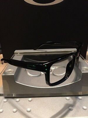 *Oakley Holbrook Polished Black Frames Green Icons Great Condition Free S/H
