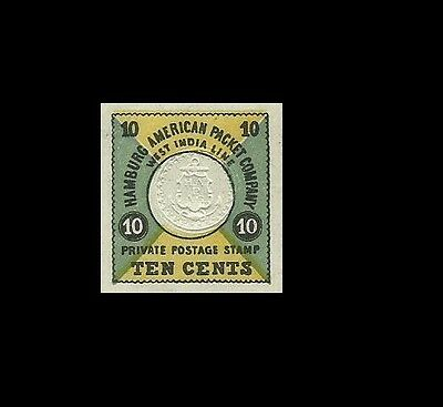 West Indies Hamburg American Packet Company Private Postage Stamps