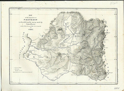 1854 Maps of Santiago Chile and Plan of Constitucion of the River Maule - 2 Maps