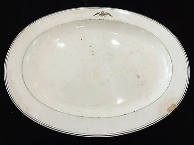 Rare Antique Russian Ukrainian Imperial Faience Serving Platter- Dated 1851